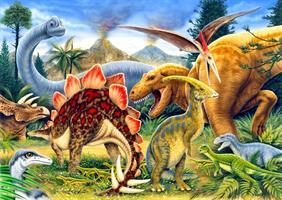 Puslespill Dinosaurs, 100 brikker