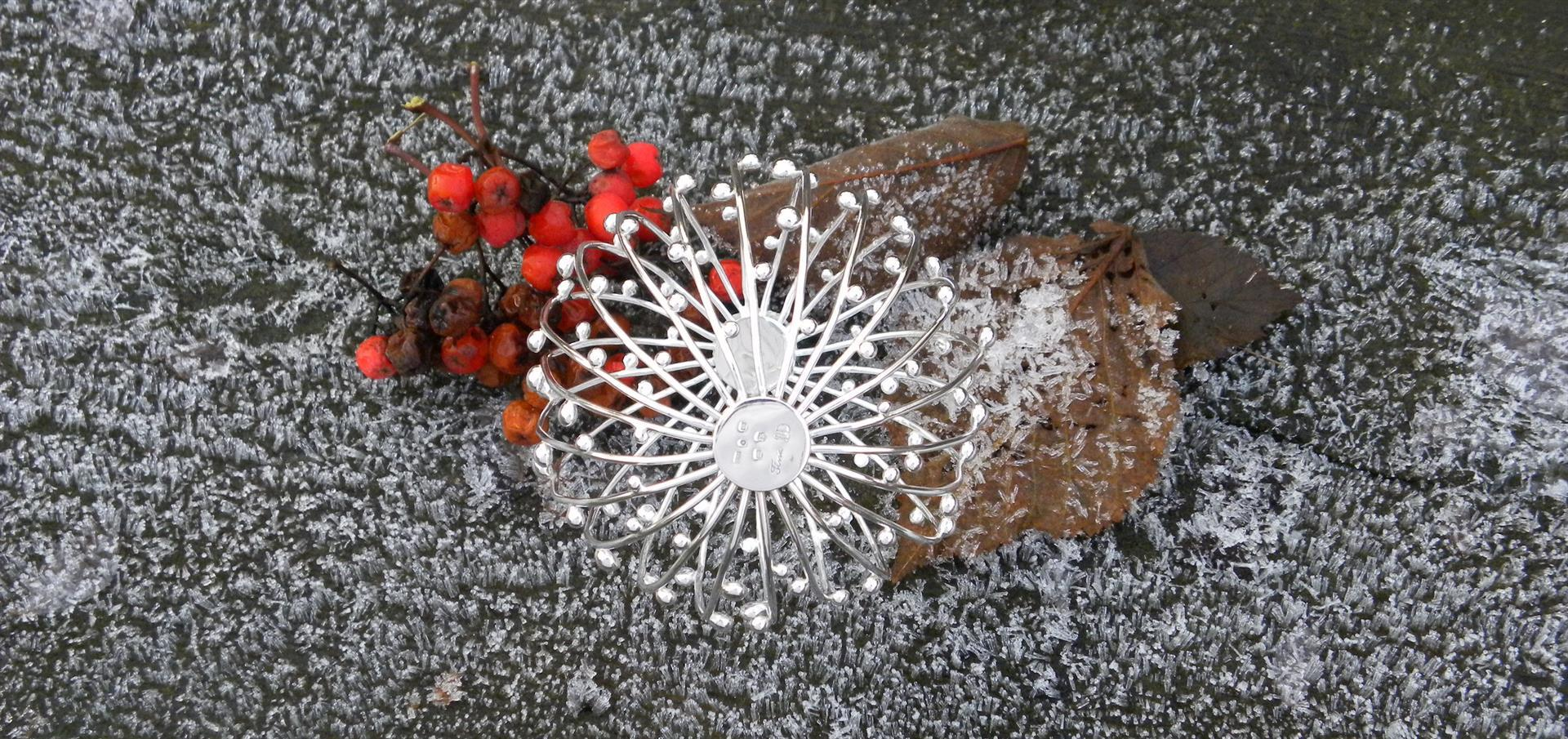 Kosmiskt klot, silver, Kristina Fureby