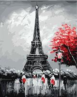 Mal eller nummer, Eiffeltårn 3 40*50cm (YC2298)