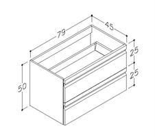 Underskåp bänk Terra 80 cm