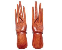 Träsnideri - Par med händer 25cm (6 pack)