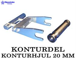 KONTURDEL + KONTURHJUL Ø 20 MM