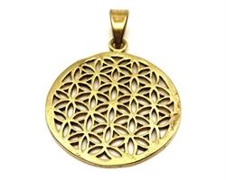 Halsband - Brons Flower of Life (4 pack)