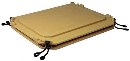 Lokk for Container tank isolert 1230x1060mm beige