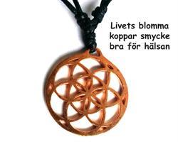 Halsband - Livets blomma i koppar (3 pack)
