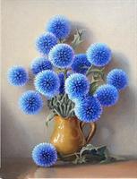 Diamond Painting, Blå blomster 20*30cm (XF3910) FPK
