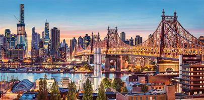 Puslespill Panorama Evening New York, 4000 brikker