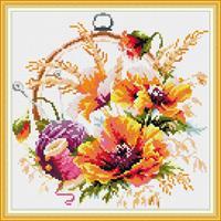 Diamond Painting, Blomsterring H230 36,4*36,4cm FPK