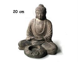 Buddha - Ljusstake grå 20cm (4 pack)