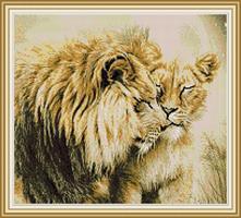 Diamond Painting, Løver 51,5*46,5cm FPK