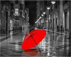 Mal eller nummer, Rød paraply 50*40cm (YC2256)