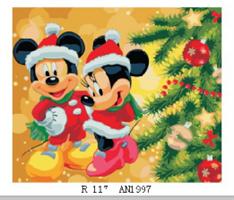 Male etter nummer, Mikkes jul 40*50cm (6755)