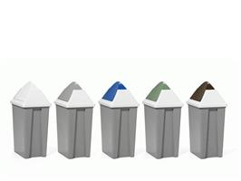 Vippelokk til avfallsbeholder 50L blå