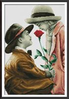 Diamond Painting, Barn m/rose 47*66cm FPK