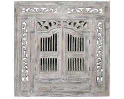 Spegel mahogny - Vit 80x90 cm (2 pack)