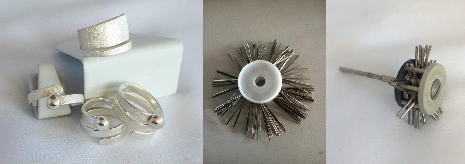 Matterade silversmycken