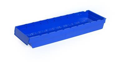 Lagerskuff 600x188x80mm blå
