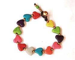 Armband - Rainbow hjärtan (4 pack)