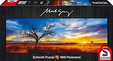 Puslespill Panorama Desert Oak at Sunset, 1000 brikker