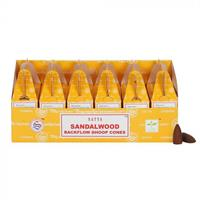 Satya - Sandalwood backflow koner (6 pack)
