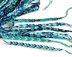 Makramé armband - Blå mix (50 pack)