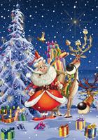 Puslespill Happy Santa, 1000 brikker