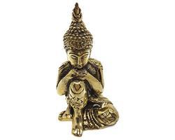 Brons - Buddha guld 10cm  (2 pack)