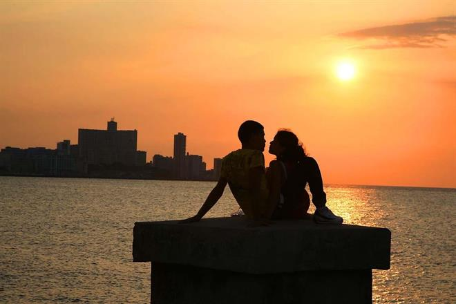 Romantik i Havana, Cuba.