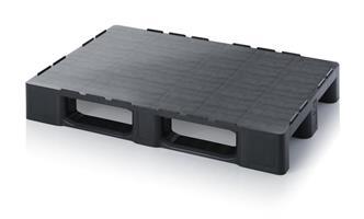 Plastpall ESD 1200x800mm HD m/kant svart