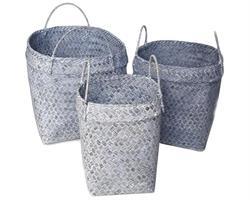 Set 3 korgar - Grå  (3 pack)