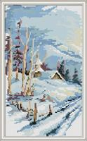 Diamond Painting, Landskap Vinter 22,1*37,0cm (F0287) FPR
