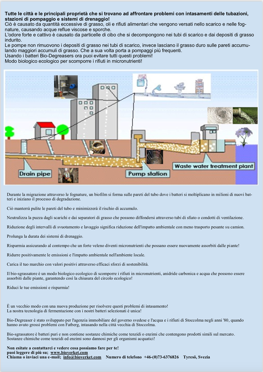 Bio-Degreaser Italia, print and save