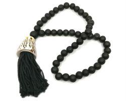 Papua - Halsband stor snäcka svart (4 pack)