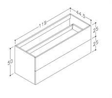 Underskåp bänk Gama 120 cm