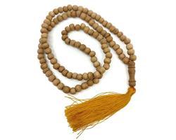 Mala - Halsband trä saffran tofs (10 pack)