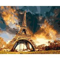 Mal eller nummer, Eiffeltårn 2 50*40cm (YC2393)