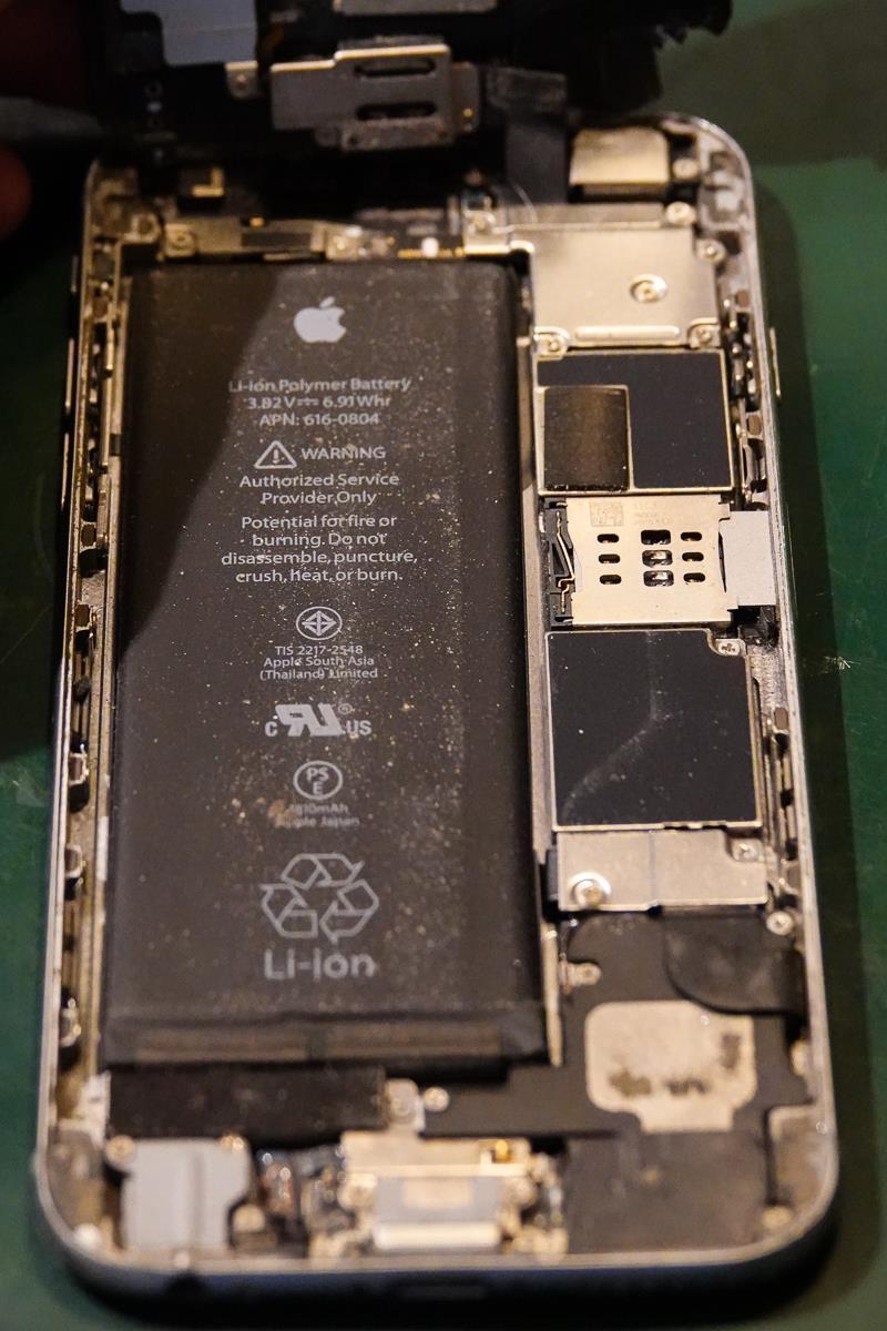 Støvete iPhone