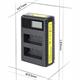 Dobbeltlader for Canon LP-E10 batterier m/disp