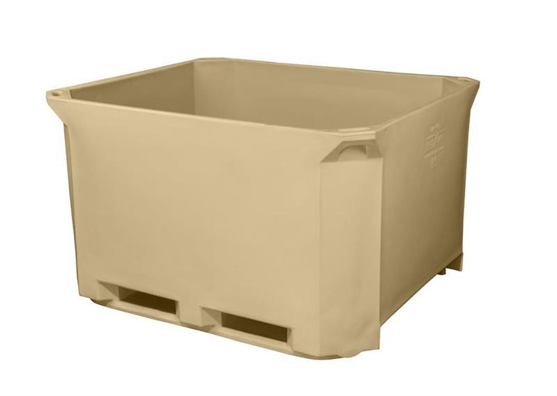 Containertank isolert 1230x1030x760mm 630 L beige