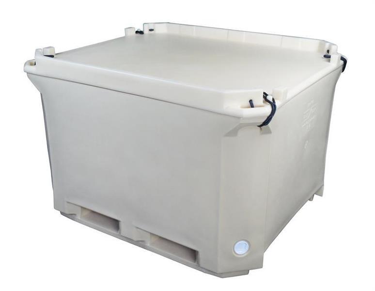Containertank isolert 1230x1030x760mm 630 L hvit