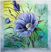Diamond Painting,  Blå blomst 50*50cm FPR