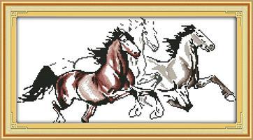 Broderi korssting, 3 Hester 72*40cm (D545)