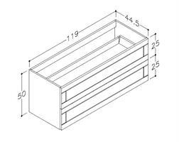 Underskåp bänk Adagio 120 cm