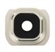 S6 Kamera Glass m/ramme - Gull