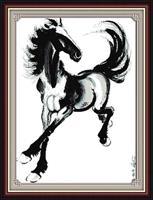 Broderi korssting, Hest i galopp 84*111cm (D023)