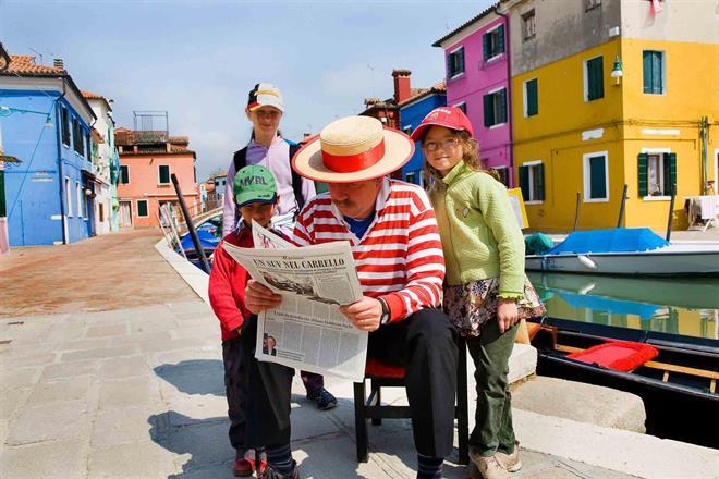 På ön Burano, Venedig.