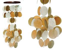 Vindspel - Snäckskal orange, brun & vit (12 pack)
