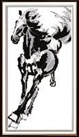 Broderi korstting, Hest 40*64cm (D023)