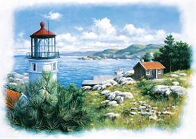 Puslespill Seafront Lighthouse, 500 brikker