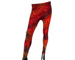 Tights - Tie dye röd (2 pack)